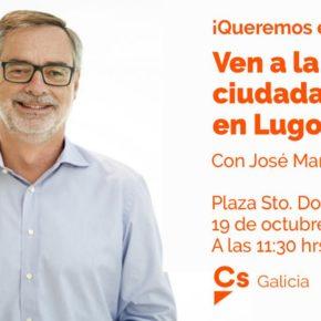 LUGO. José Manuel Villegas visitará la Carpa Ciudadana situada en la Plaza de Santo Domingo