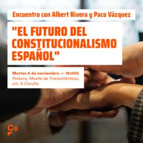 Albert Rivera y Paco Vázquez charlan sobre el constitucionalismo en A Coruña