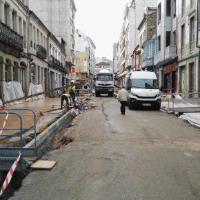 Ciudadanos Sarria alerta del peligro que supone para los peatones las obras de la calle Diego Pazos