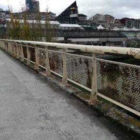 Ciudadanos pide el arreglo de la pasarela peatonal del río Miño