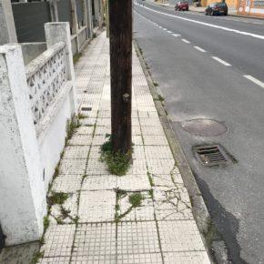 Desde Ciudadanos Bueu se propone la supresión de elementos verticales en las aceras de la PO-551 a su paso por Bueu